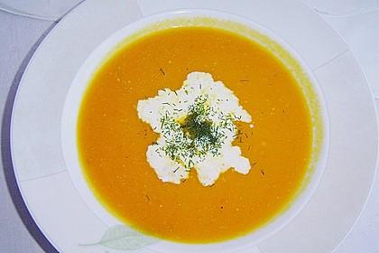 Kürbis - Möhren - Suppe 5