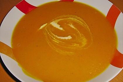 Kürbis - Möhren - Suppe 11