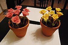 Schokokuchen in einem Blumentopf