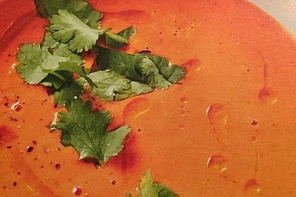 Cremige Tomatensuppe mit Kokosmilch 8