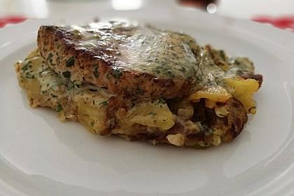 Bratkartoffelauflauf mit Schnitzel 7