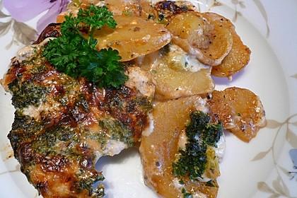 Bratkartoffelauflauf mit Schnitzel 8