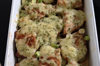 Bratkartoffelauflauf mit Schnitzel 5