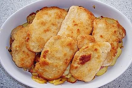 Bratkartoffelauflauf mit Schnitzel 16