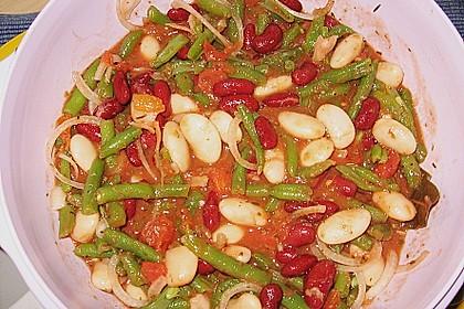 Bohnensalat mit Tomaten und rotem Pesto 3