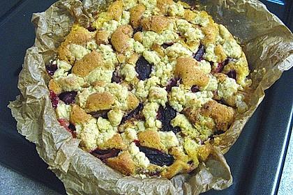 Pflaumen - Quark - Kuchen mit Streuseln