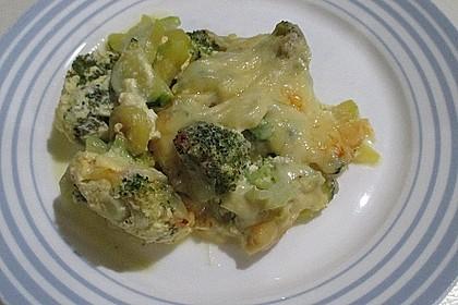 Gemüseauflauf mit Zucchini und Brokkoli