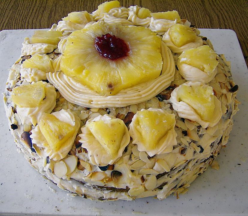 Ananas Buttercreme Torte (Rezept mit Bild) von Max&Bella ...