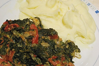 Pangasiusfilet auf Tomaten - Spinat 3
