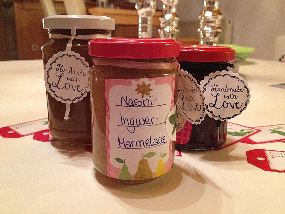 nashi ingwer marmelade rezept mit bild von beatep. Black Bedroom Furniture Sets. Home Design Ideas