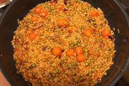 Mexikanischer Reis mit Chilis und Erbsen 5