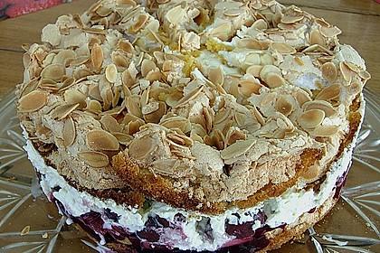 Hansen - Jensen - Torte mit Sauerkirschen 4
