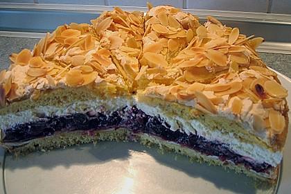 Hansen - Jensen - Torte mit Sauerkirschen