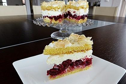 Hansen - Jensen - Torte mit Sauerkirschen 12