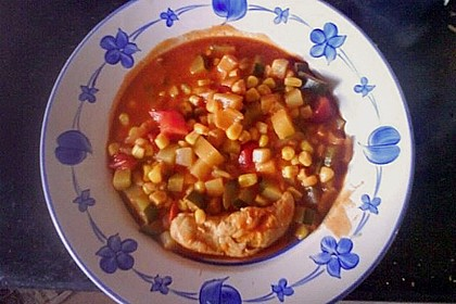 Tomaten - Hähnchen - Eintopf