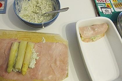 Grüner Spargel im Schinken - Kartoffelmantel 14