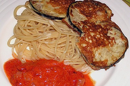 Zucchini – Piccata auf Tomatenkompott mit Rucolapesto und Nudeln 27