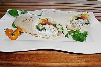 Parmaschinken - Tortillas mit Ziegenfrischkäse