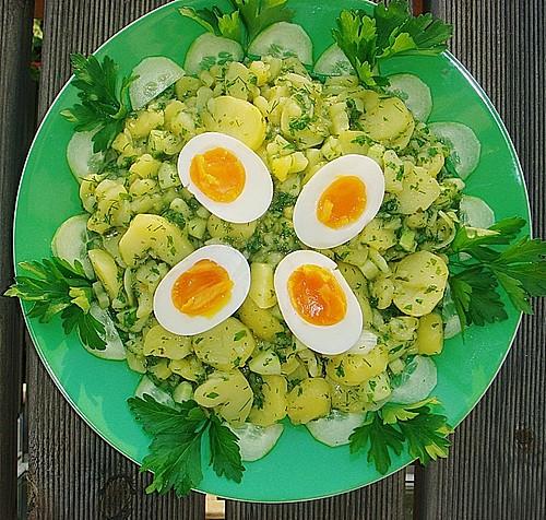 kartoffelsalat mit salatgurke rezept mit bild von annamariarv238. Black Bedroom Furniture Sets. Home Design Ideas