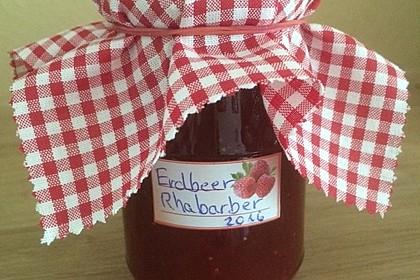 Erdbeer - Rhabarber - Marmelade 1