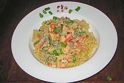 Feuermohns Pasta mit Lachssauce 0