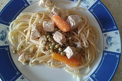 Feuermohns Pasta mit Lachssauce