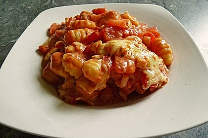 Gnocchi - Auflauf mit Tomate und Mozzarella