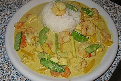 Thailändisches Garnelencurry 8