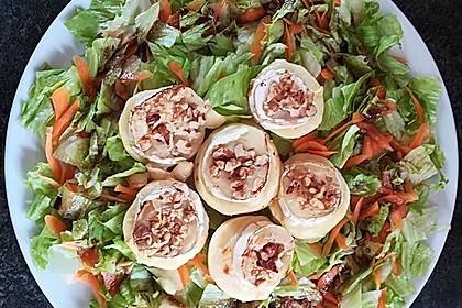 Überbackener Ziegenkäse mit Honigsauce 2