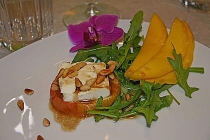Überbackener Ziegenkäse mit Honigsauce 5
