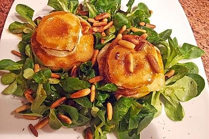 Überbackener Ziegenkäse mit Honigsauce 7