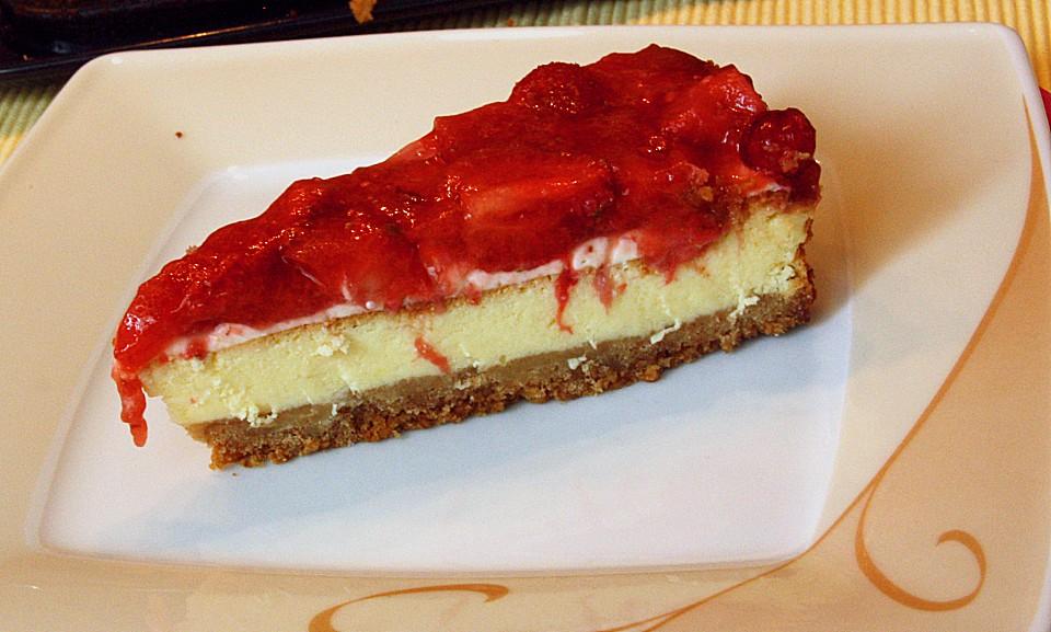 american cheesecake mit erdbeeren rezepte suchen. Black Bedroom Furniture Sets. Home Design Ideas