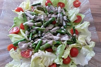 Spargel - Spinat - Salat mit Ziegenkäsedressing