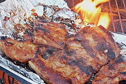 Spare Ribs, Barbecue - Rippchen, gegrillt 4