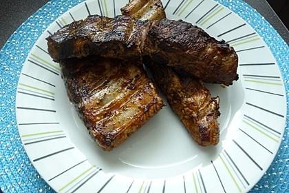 Spare Ribs, Barbecue - Rippchen, gegrillt 1