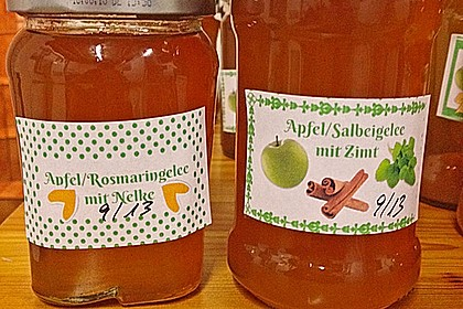 Apfelgelee mit Rosmarin 10
