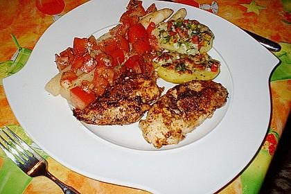 Hendlbrust mit gebratenem Spargel und Tomatenkonfit 0