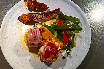Speckkartoffeln in Käse - Sahne - Sauce 1