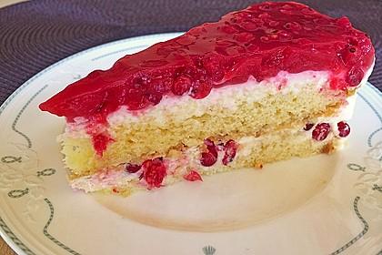 Johannisbeer - Grütze - Schmand - Torte