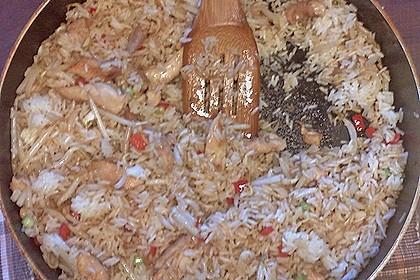 Gebratener Reis mit Huhn und Ei 5