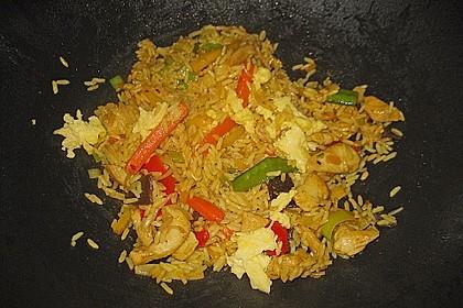 Gebratener Reis mit Huhn und Ei 3