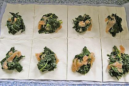 Lachs - Spinat - Taschen 6