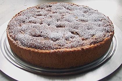 Rhabarber - Nuss - Sahne - Kuchen mit Mürbteigboden 3