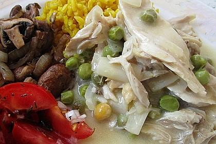Hühnerfrikassee Grundrezept 1