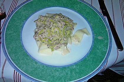 Feuermohns Pasta mit Thunfisch - Porree - Sauce 6