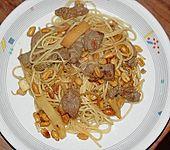 Asiatisches Rindergeschnetzeltes mit Spaghettini (Bild)