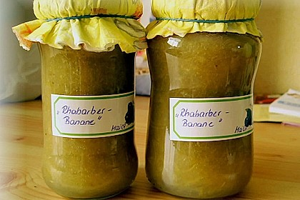 Rhabarber - Bananen Marmelade 2