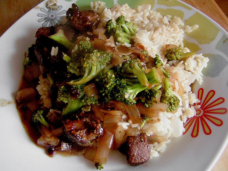 Asiatische Rindfleisch - Brokkoli - Pfanne (Rezept mit Bild ...