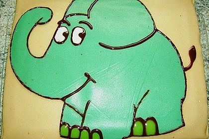Lettas kleine blaue Elefant  - Motivtorte 67