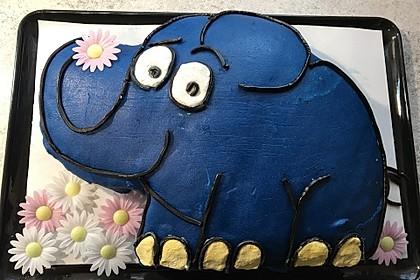 Lettas kleine blaue Elefant  - Motivtorte 23